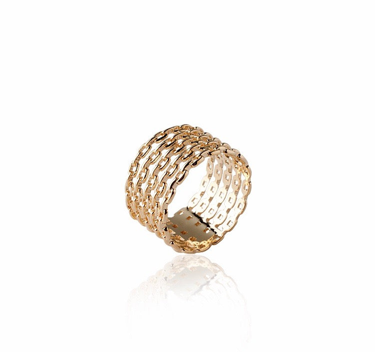 SANDRINE LARGE CHAIN LINK RING