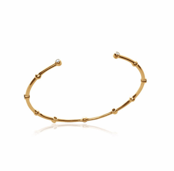 ALEXIA GOLD OPEN CUFF WITH CRYSTALS