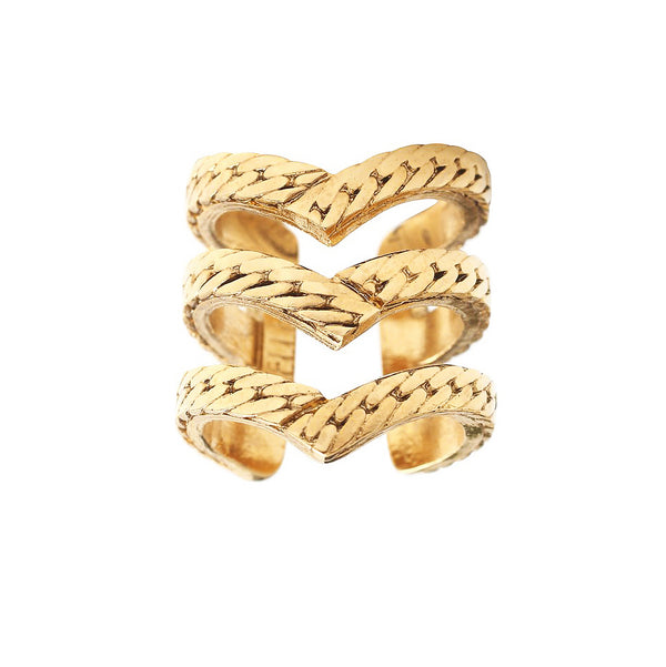 POINTE 3 RAWS GOLD RING