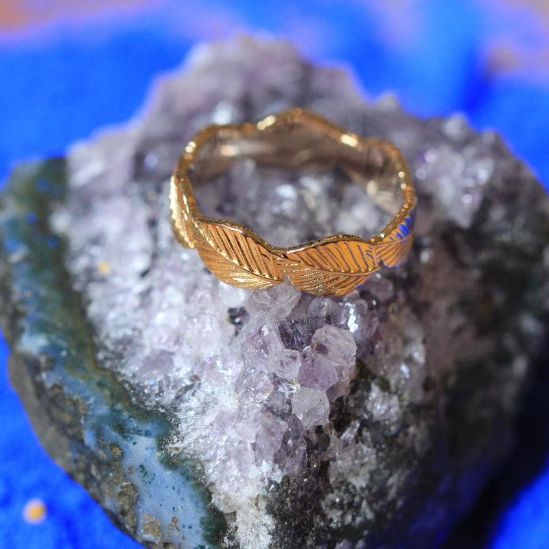 TUILERIES LEAF RING