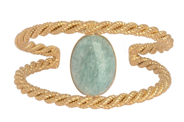 DOUBLE TWISTED AMAZONITE CUFF