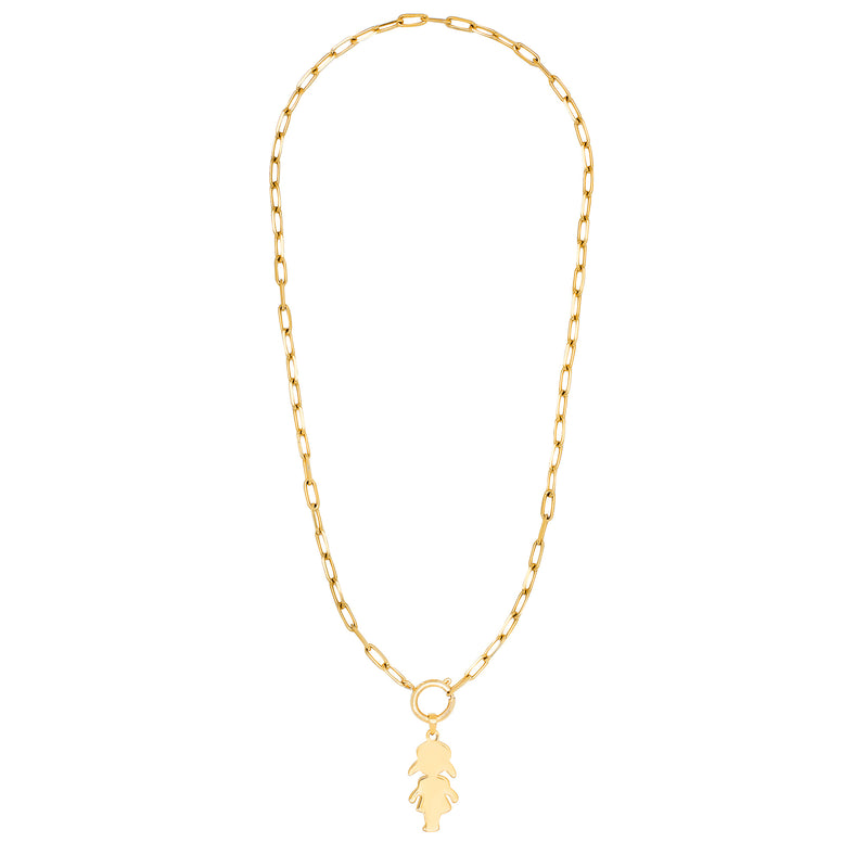 collier maille silhouette petite fille - larchmont