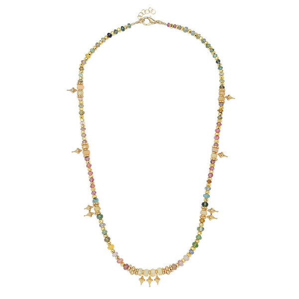Collier Melrose - tourmalines et opale blanche