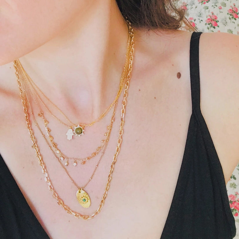 Collier pampilles rondes