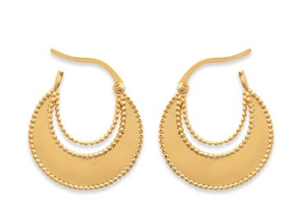 CHARLOTTE CRESCENT HOOPS EARRINGS