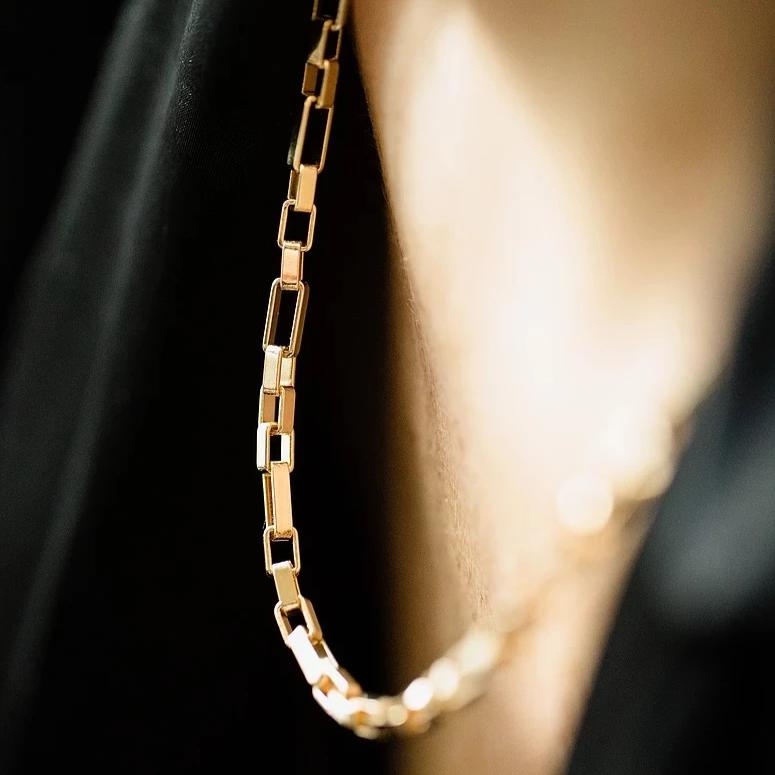RECTANGLE LINK CHAIN NECKLACE