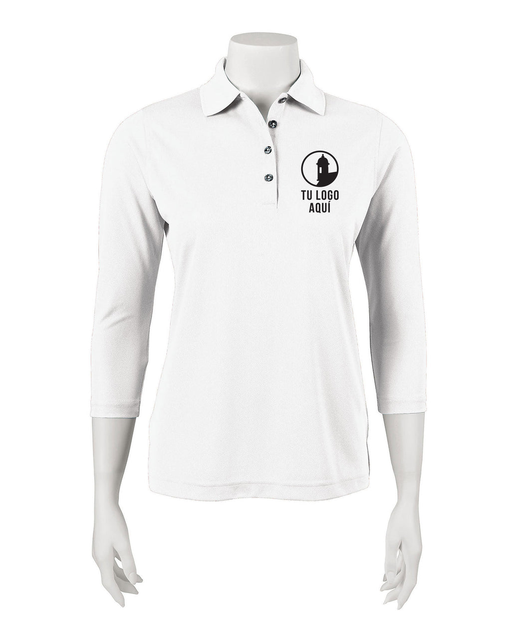 Women's 3/4 Sleeve Polo