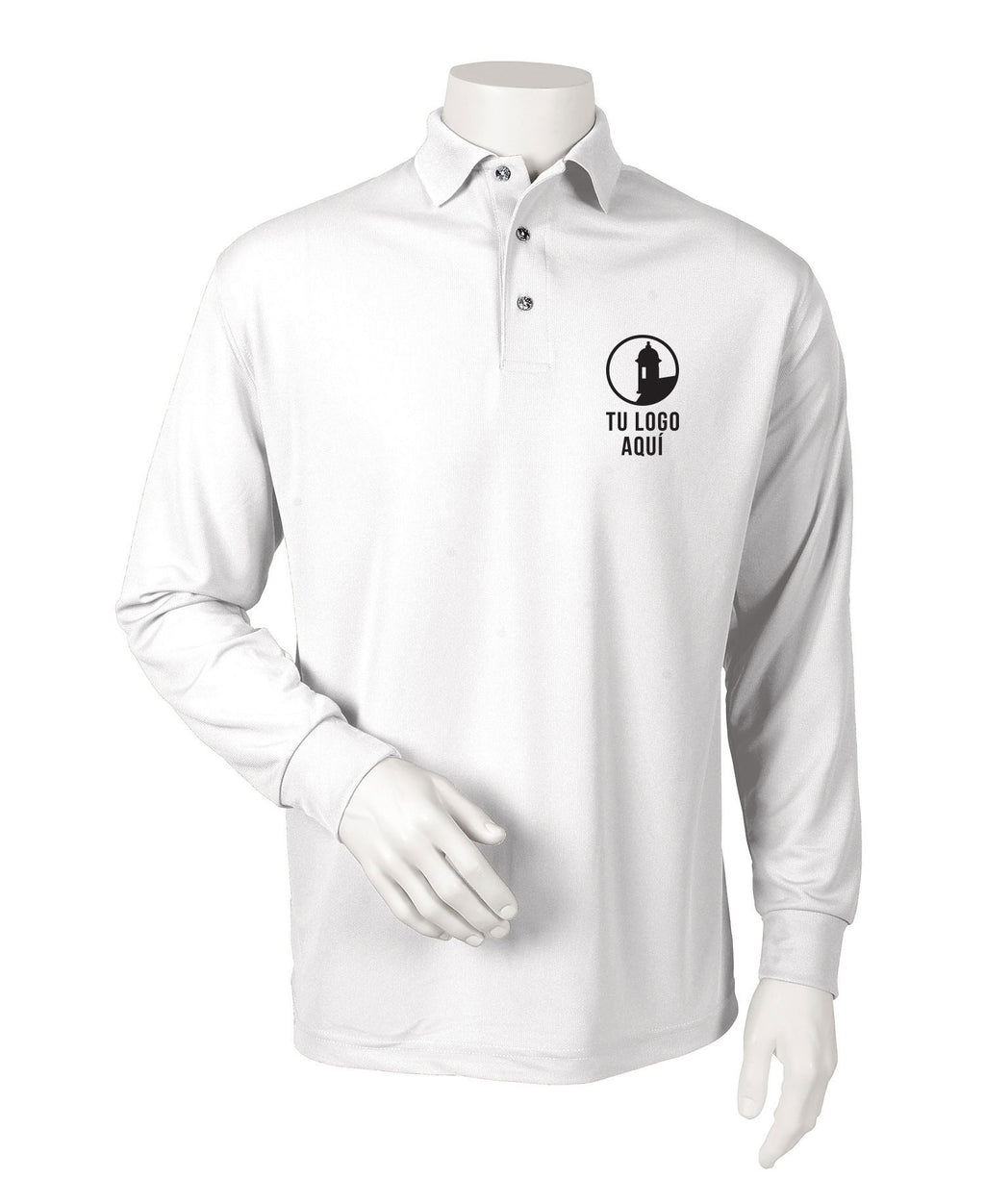 Men's Long Sleeve Mesh Polo