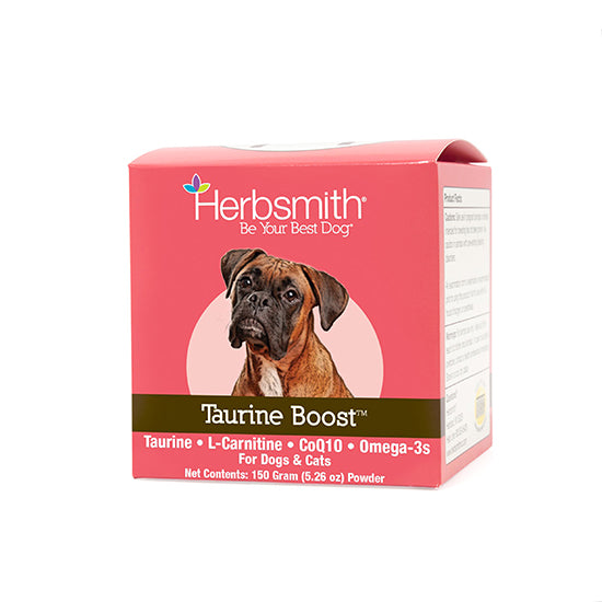 Herbsmith Taurine Boost - Taurine • L-Carnitine • Omega 3's • Coenzyme Q10 for Dogs & Cats