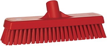Deck Scrub- 3x12, Stiff, Red