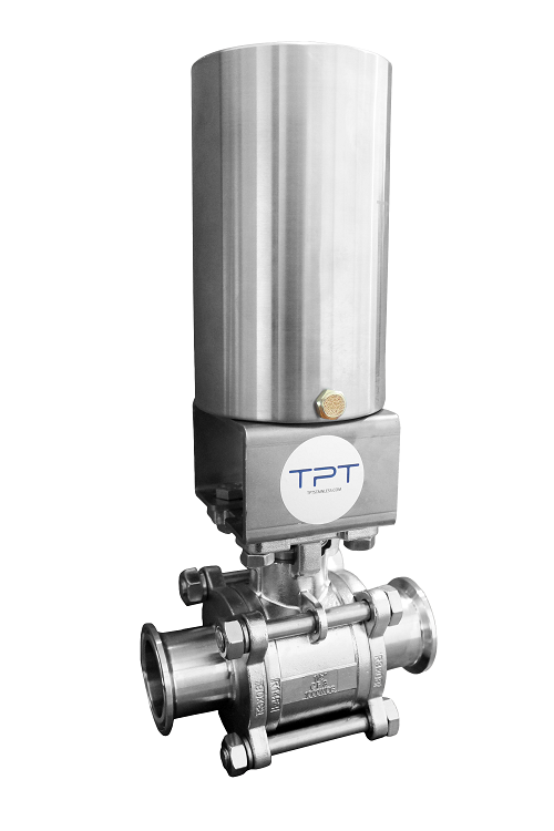 Sanitary Tri-clamp pneumatic ball valve