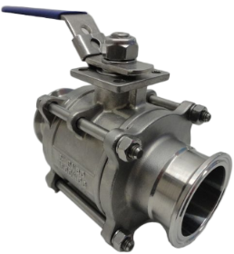 3-Piece Tri-Clamp® Sanitary Ball Valve