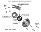 Butterfly Valve Multi-Position Handle- Viton Gasket