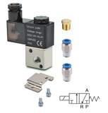 "1/8"" Directional solenoid valve, 3/2, panel mount"