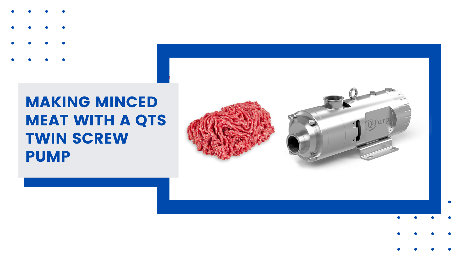 Making Minced Meat With a QTS Twin Screw Pump Youtube Video
