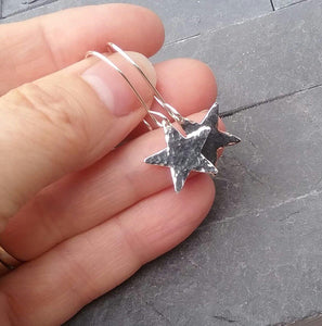 Hammered Star Earrings - PurplePixiebyDenise