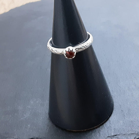 Garnet Stacking Ring - PurplePixiebyDenise