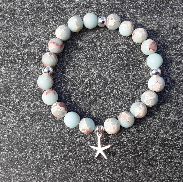 Sterling silver and impression jasper bracelet