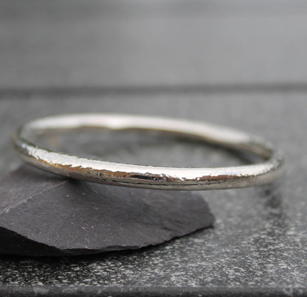 Chunky Sterling Silver Bangle