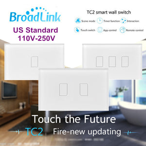 Broadlink TC2,AU US Standard,1 2 3 gang option,smart home Automation,phone wireless remote control lamp light Switch via rm pro