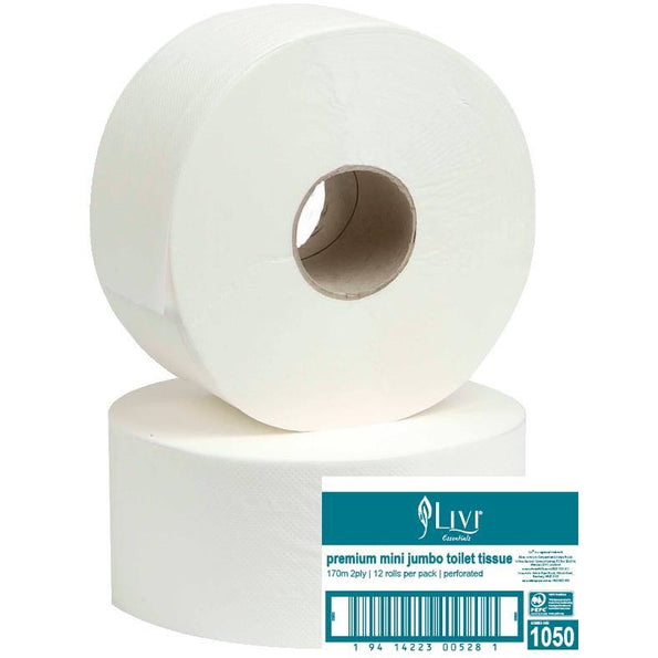 LIVI ESSENTIALS MINI JUMBO TOILET TISSUE (1050)