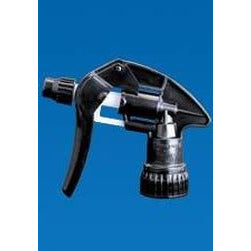 Black trigger spray suitable for solvent chemicals.