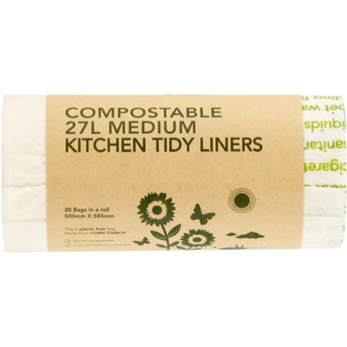 ECOBAGS COMPOSTIBLE KTL 27LTR