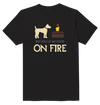 My Food On Fire Dog Funny T-Shirt