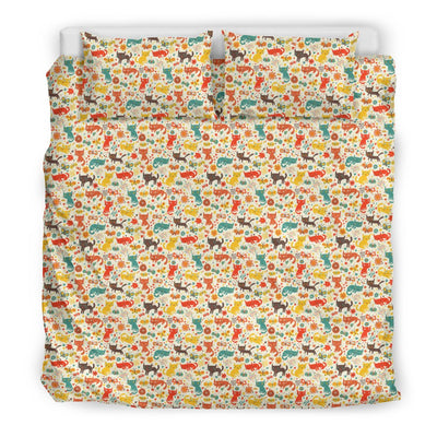 Cats Playing With Birds In The Woods Bedding Set