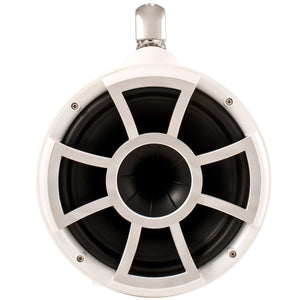 "REV 10 W-SC V2 | Wet Sounds Revolution Series 10"" White Tower Speaker With TC3 Swivel Clamps"