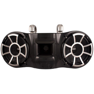 "REV 410 B-SC V2 | Wet Sounds Revolution Series Dual 10"" Black Tower Speaker With TC3 Swivel Clamps"