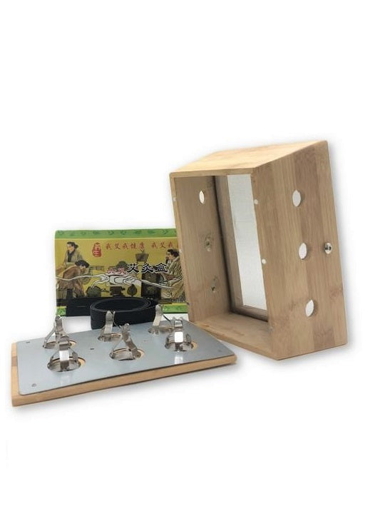 Bamboo Six Holes Moxibustion Box