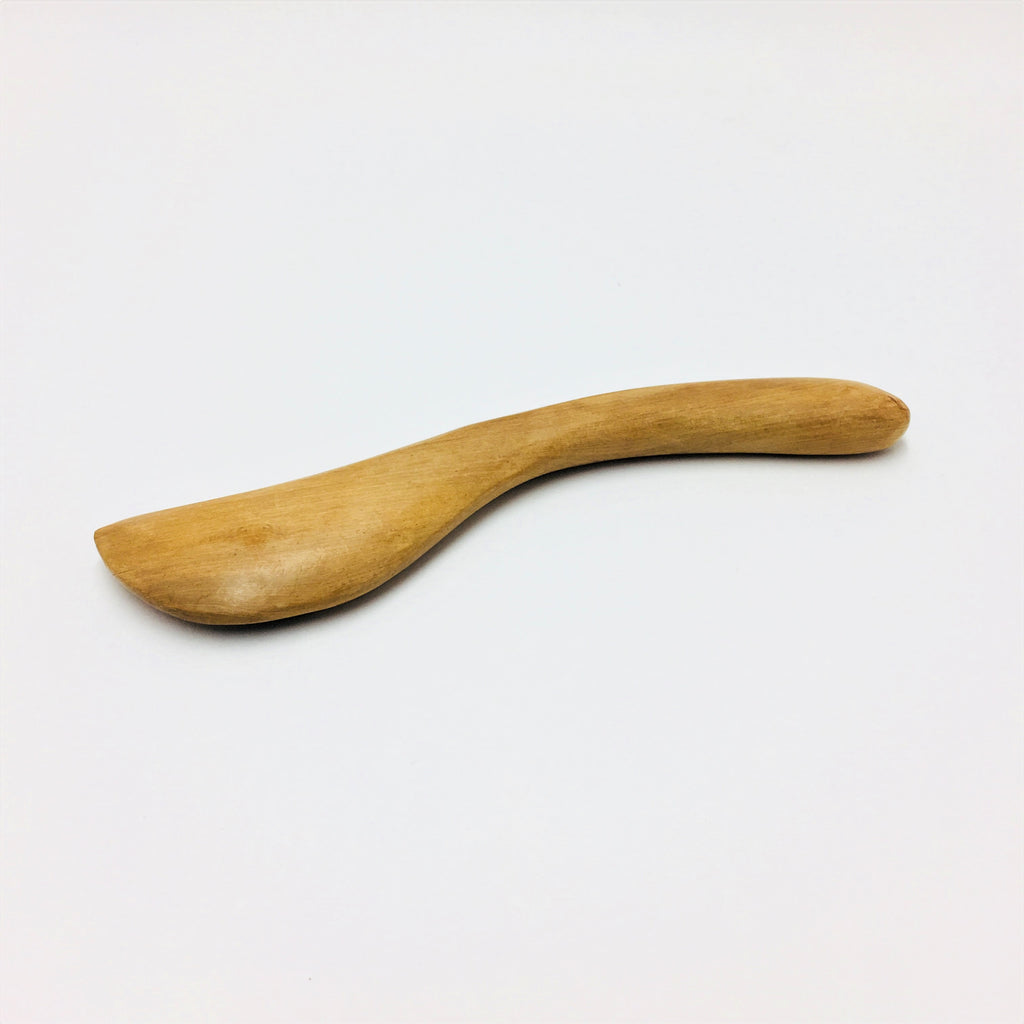 Wooden Gua Sha Curved Spoon