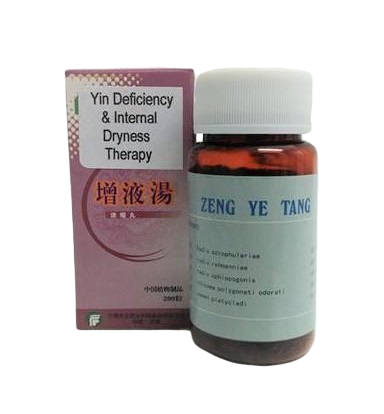 Zeng Ye Tang 增液汤 (YIN DEFICIENCY; INTERNAL DRYNESS)