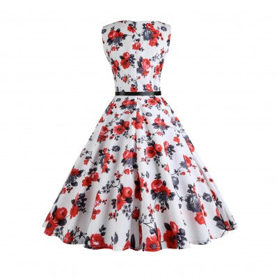 Red Glamour lover style Printed pattern Plus size Dress