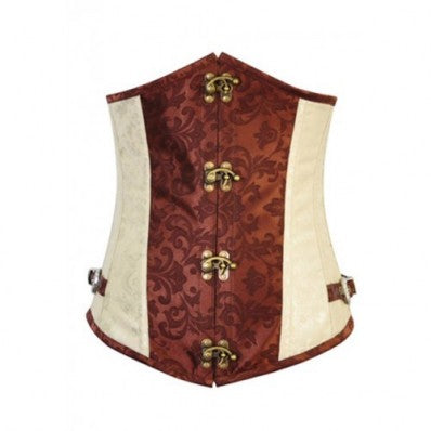 Fashion Cream and Bronze Vintage Goth Corset