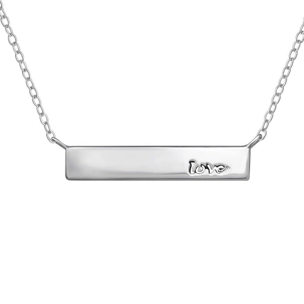 ".925 Sterling Silver ""Love"" Necklace"