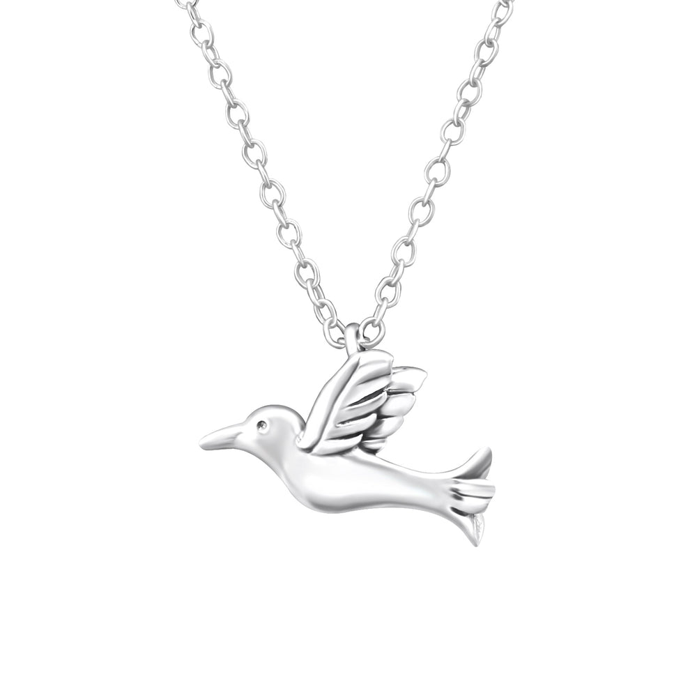 .925 Sterling silver Bird Necklace
