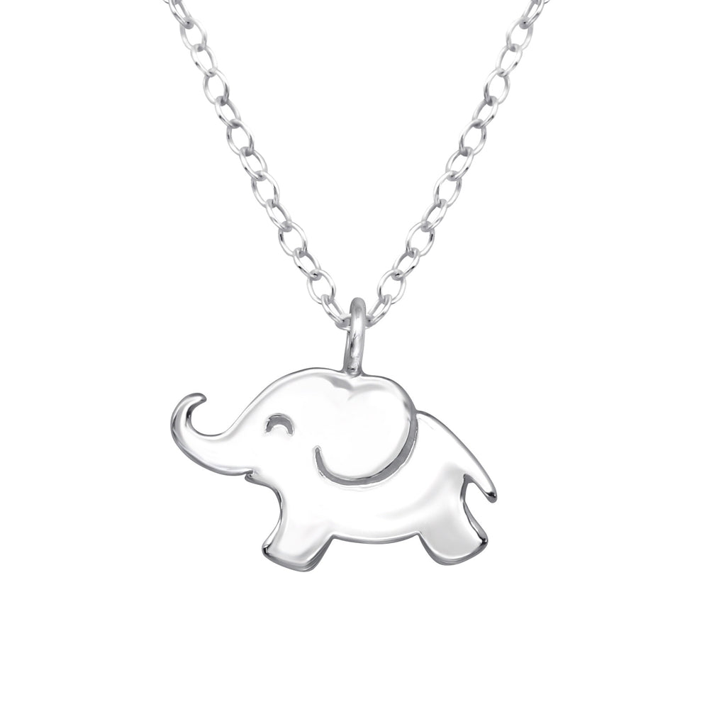 .925 Sterling Silver Elephant Necklace