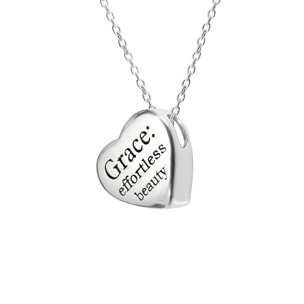 ".925 Sterling Silver ""Grace+ Necklace"