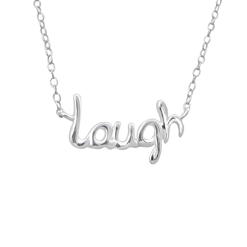 ".925 Sterling Silver ""Laugh"" Necklace"