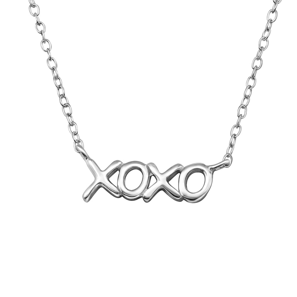 ".925 sterling silver ""XOXO"" Necklace"