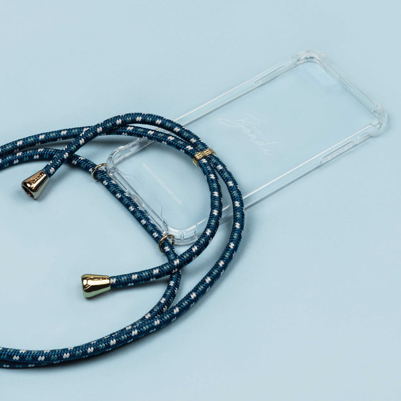 Blue Crossbody Phone Case in Singapore