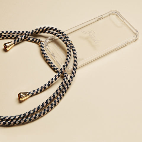 Midnight Black Phone Necklace