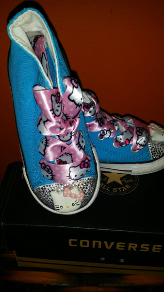 TURQUOISE HELLO KITTY CONVERSE