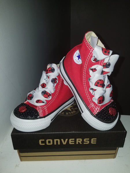 RED CONVERSE PEARL TOE