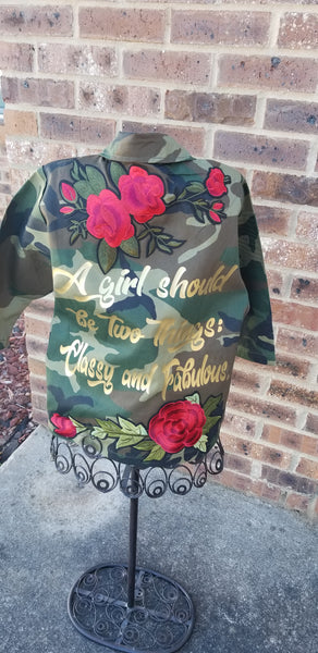 Kids Camo Classy and Fabulous Jacket