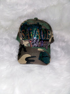 Savage Hat-Green/Gold- Green Lips