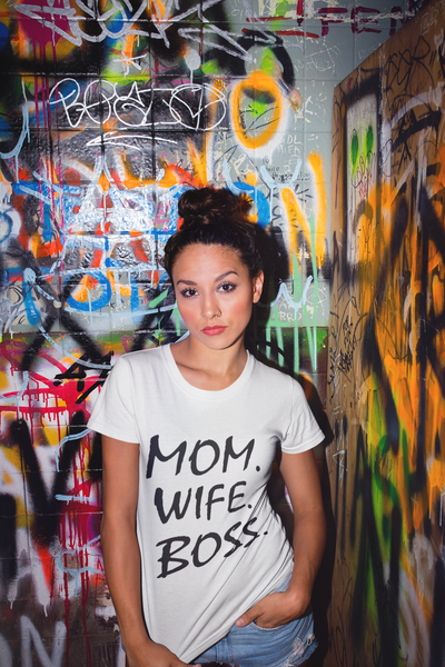 MOM, WIFE, BOSS Tee