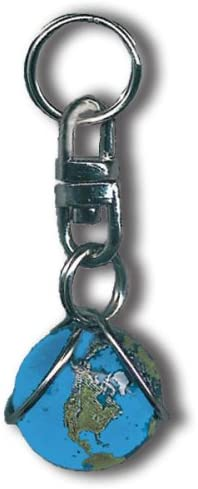 Blue Earth Marble Zipper Pull